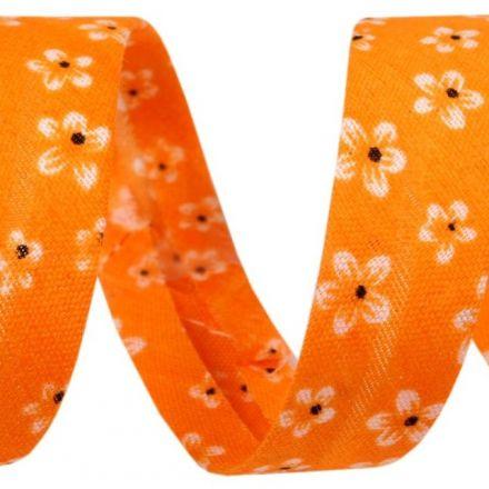 Galanterie: Šikmý proužek 14 mm - oranžový