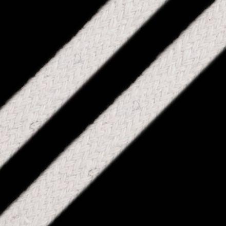 Galanterie: Oděvní plochá šňůra 10 mm - bílá