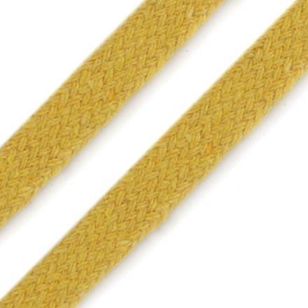 Galanterie: Oděvní plochá šňůra 10 mm - žlutá