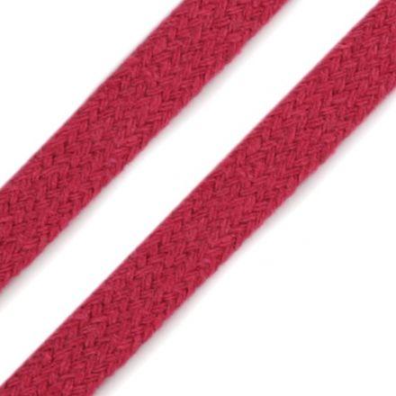 Galanterie: Oděvní plochá šňůra 10 mm - růžová