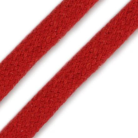 Galanterie: Oděvní plochá šňůra 10 mm - červená