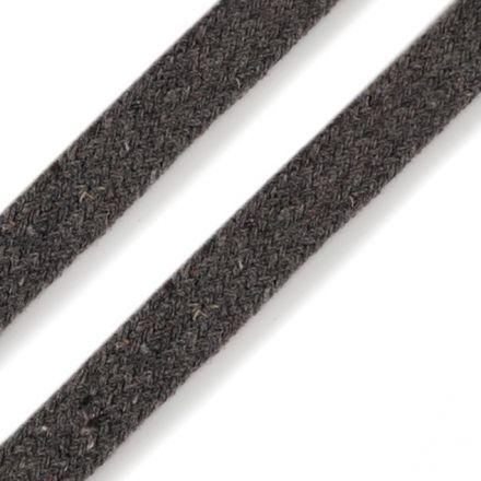 Galanterie: Oděvní plochá šňůra 10 mm - šedá