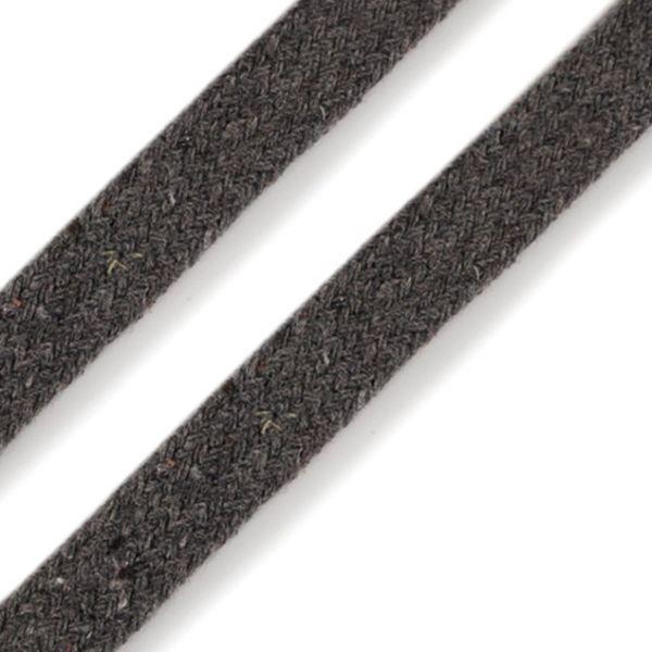 Oděvní plochá šňůra 10 mm - šedá