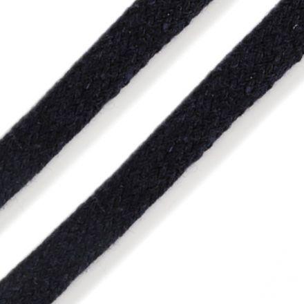 Galanterie: Oděvní plochá šňůra 10 mm - tmavě modrá