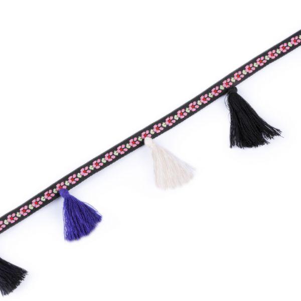 Prýmek se střapci šíře 35 mm