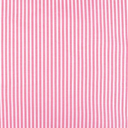 Metráž: Bavlna proužek - růžová