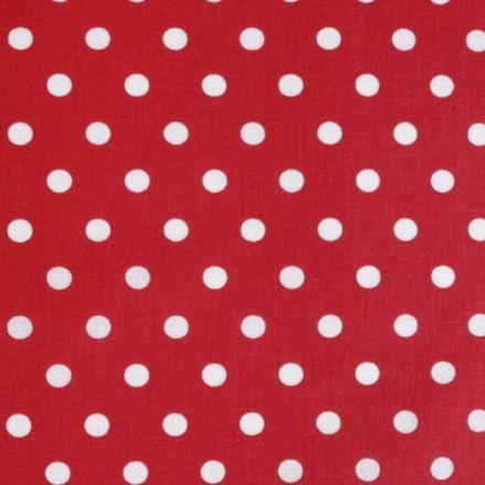 Metráž: Bavlna puntík - červená