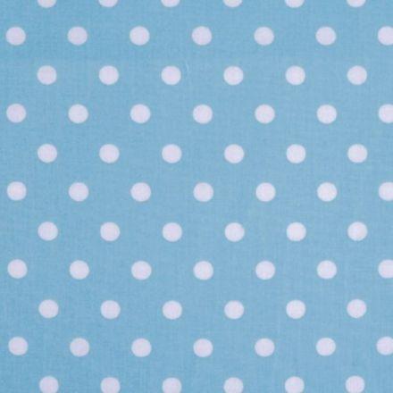 Metráž: Bavlna puntík - světle modrá