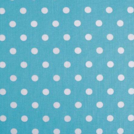 Metráž: Bavlna puntík - azurová