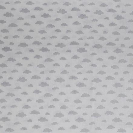 Metráž: Bavlna mráčky na bílé