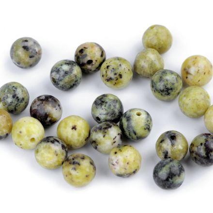 Galanterie: Minerálové korálky Žlutý tyrkys 8 mm - (5ks)