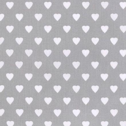Metráž: Bavlna srdce - šedá