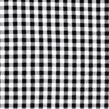 Metráž: Bavlna káro - černá