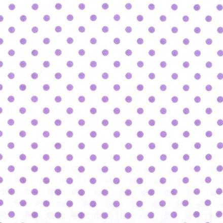 Metráž: Bavlněná látka puntíky - lila