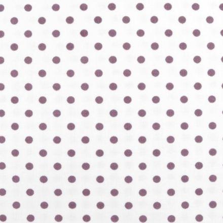 Metráž: Bavlněná látka puntíky - fialovorůžová