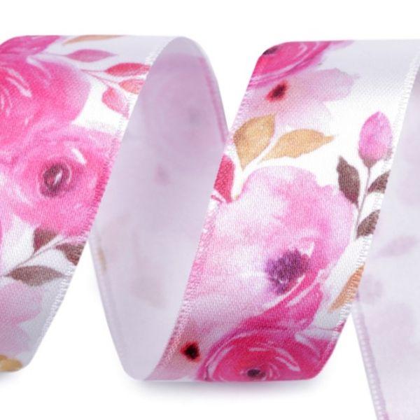 Saténová stuha magnolie šíře 25 mm