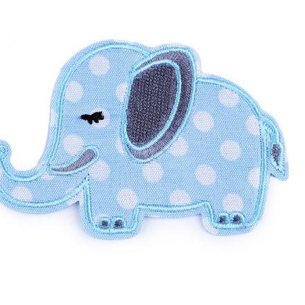 Galanterie: Nažehlovačka slon - modrá