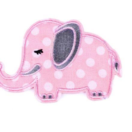 Galanterie: Nažehlovačka slon - růžová