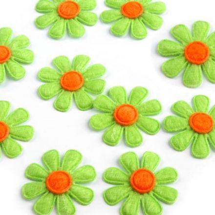 Galanterie: Květ z filcu 27 mm (10ks) - zelená