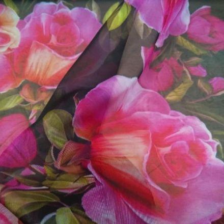 Metráž: Šifon růže