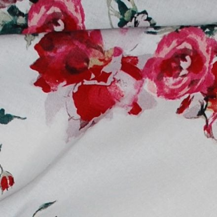 Metráž: Len s viskózou růže
