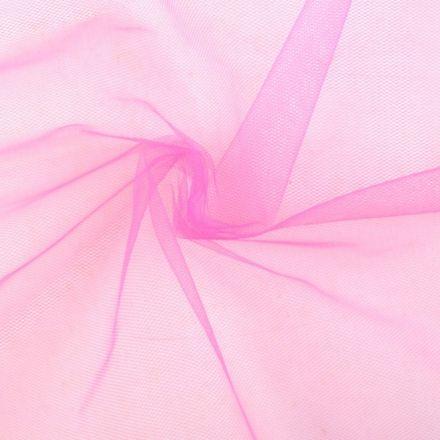 Metráž: Tyl oděvní - růžová malinová