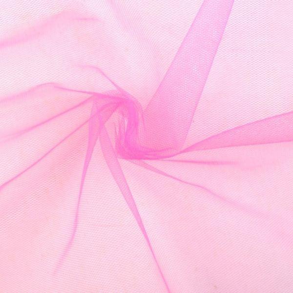 Tyl oděvní - růžová malinová