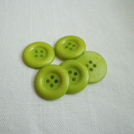 Galanterie: Plastový knoflík 21,6mm - zelená