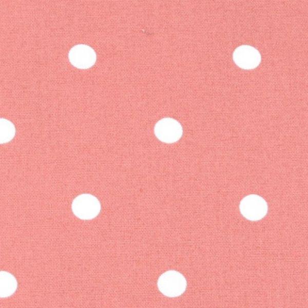 Bavlna puntík - korálová