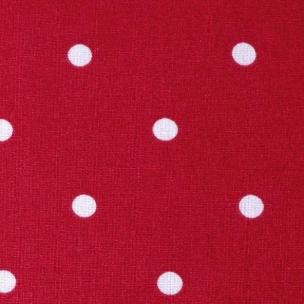 Bavlna puntík - červená