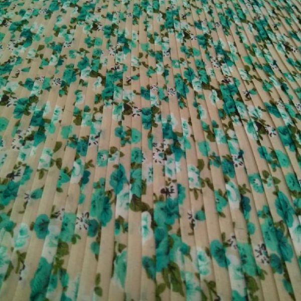 Plisé květy tyrkysové