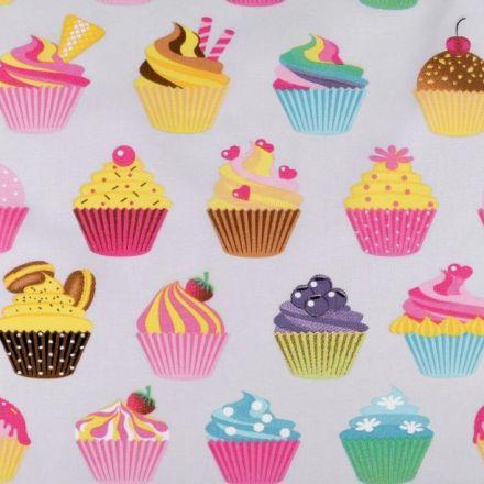 Metráž: Bavlněná látka - cupcake