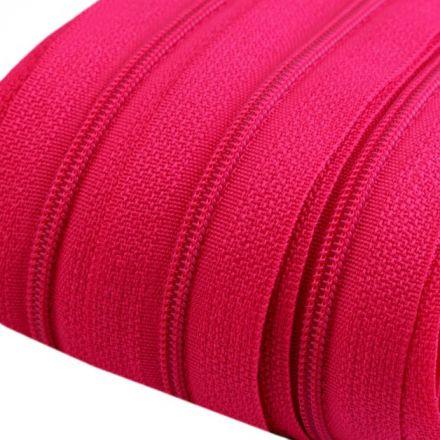 Galanterie: Zip spirálový šíře 3 mm - malinová