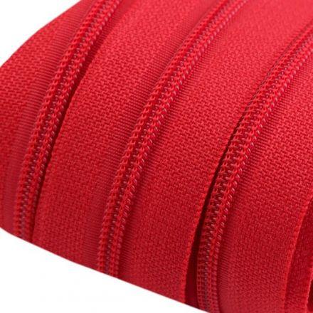 Galanterie: Zip spirálový šíře 3 mm - červená