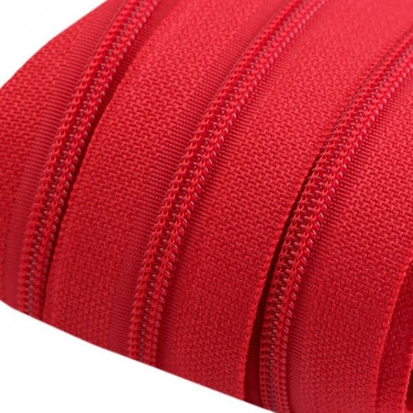 Zip spirálový šíře 3 mm - červená