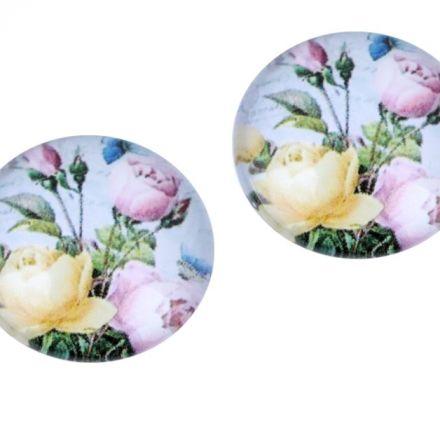 Galanterie: Kabošon růže 18 mm - pudrová