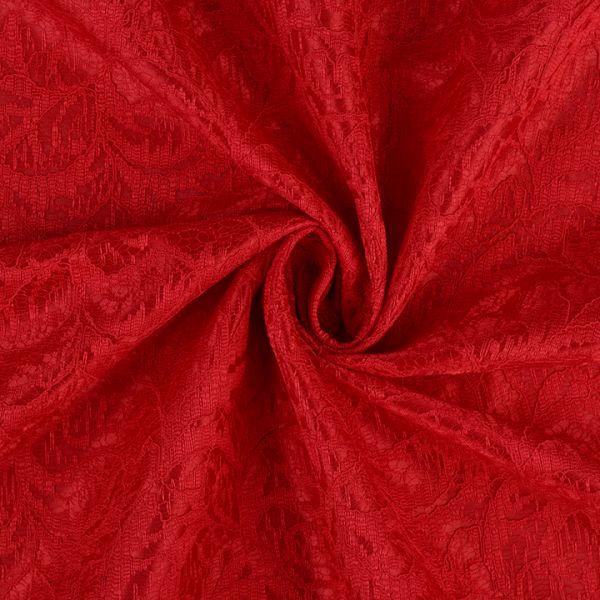 Krajka podložená saténem - červená
