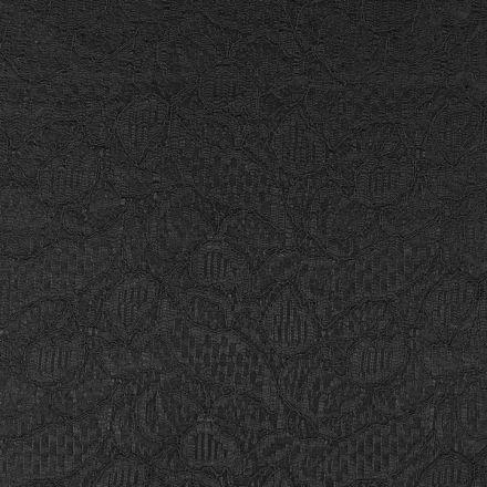 Metráž: Krajka podložená saténem - černá