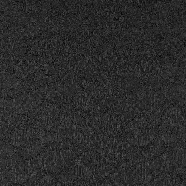 Krajka podložená saténem - černá