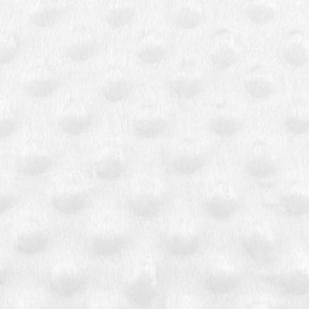 Metráž: Minky s 3D puntíky - bílá