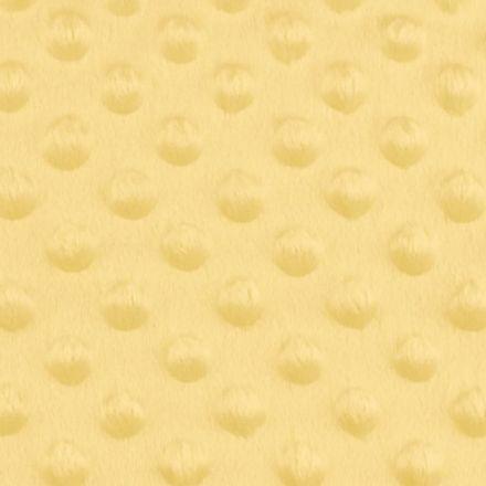 Metráž: Minky s 3D puntíky - žlutá