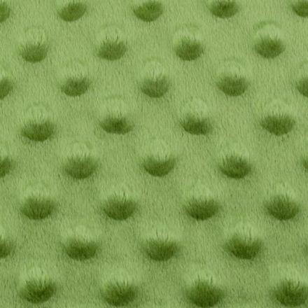 Metráž: Minky s 3D puntíky - zelená trávová