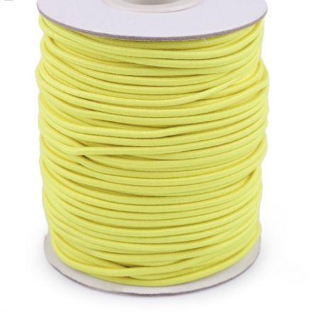 Galanterie: Kulatá pruženka 2 mm - žlutá