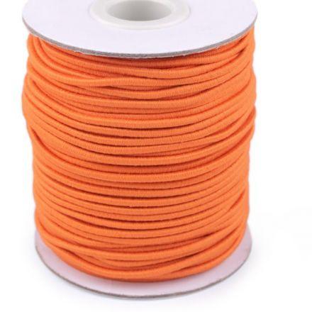 Galanterie: Kulatá pruženka 2 mm - oranžová