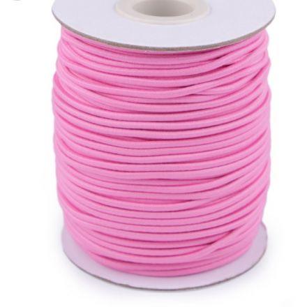 Galanterie: Kulatá pruženka 2 mm - růžová
