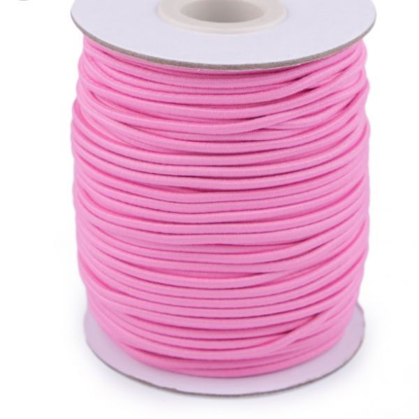 Kulatá pruženka 2 mm - růžová