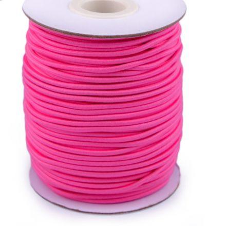 Galanterie: Kulatá pruženka 2 mm - tm. růžová