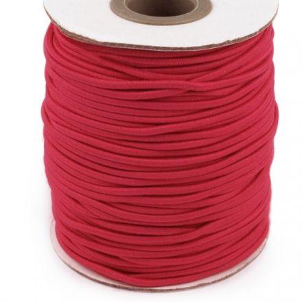 Galanterie: Kulatá pruženka 2 mm - červená