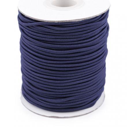 Galanterie: Kulatá pruženka 2 mm - tm. modrá