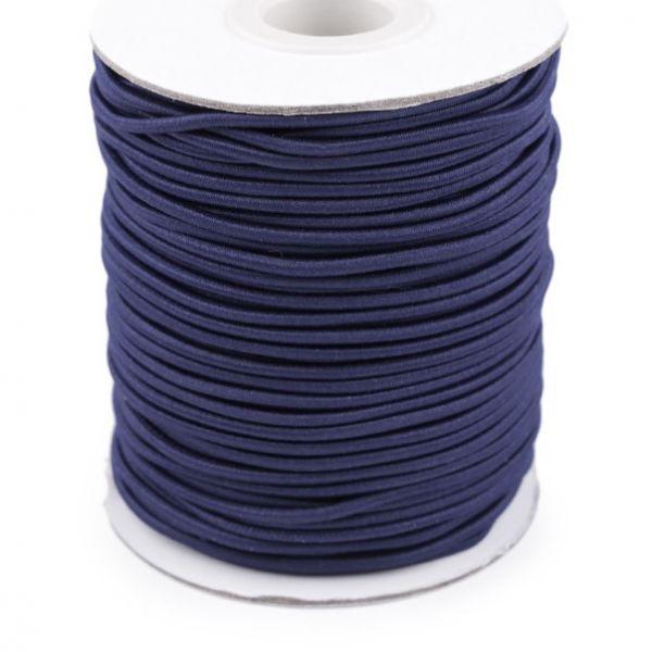 Kulatá pruženka 2 mm - tm. modrá